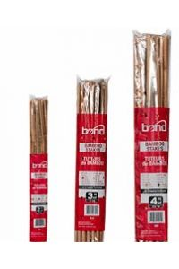 Natural Bamboo Plant Stakes - 4 foot