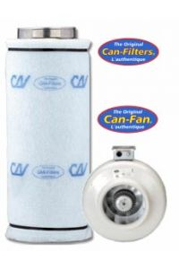 CAN 100 Combo (8-inch HO CAN fan, filter, flange) - Oversized Shipping Applies