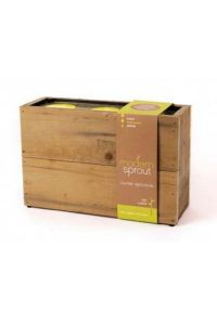 Modern Sprout Kitchen Hydroponics System - Reclaimed Wood